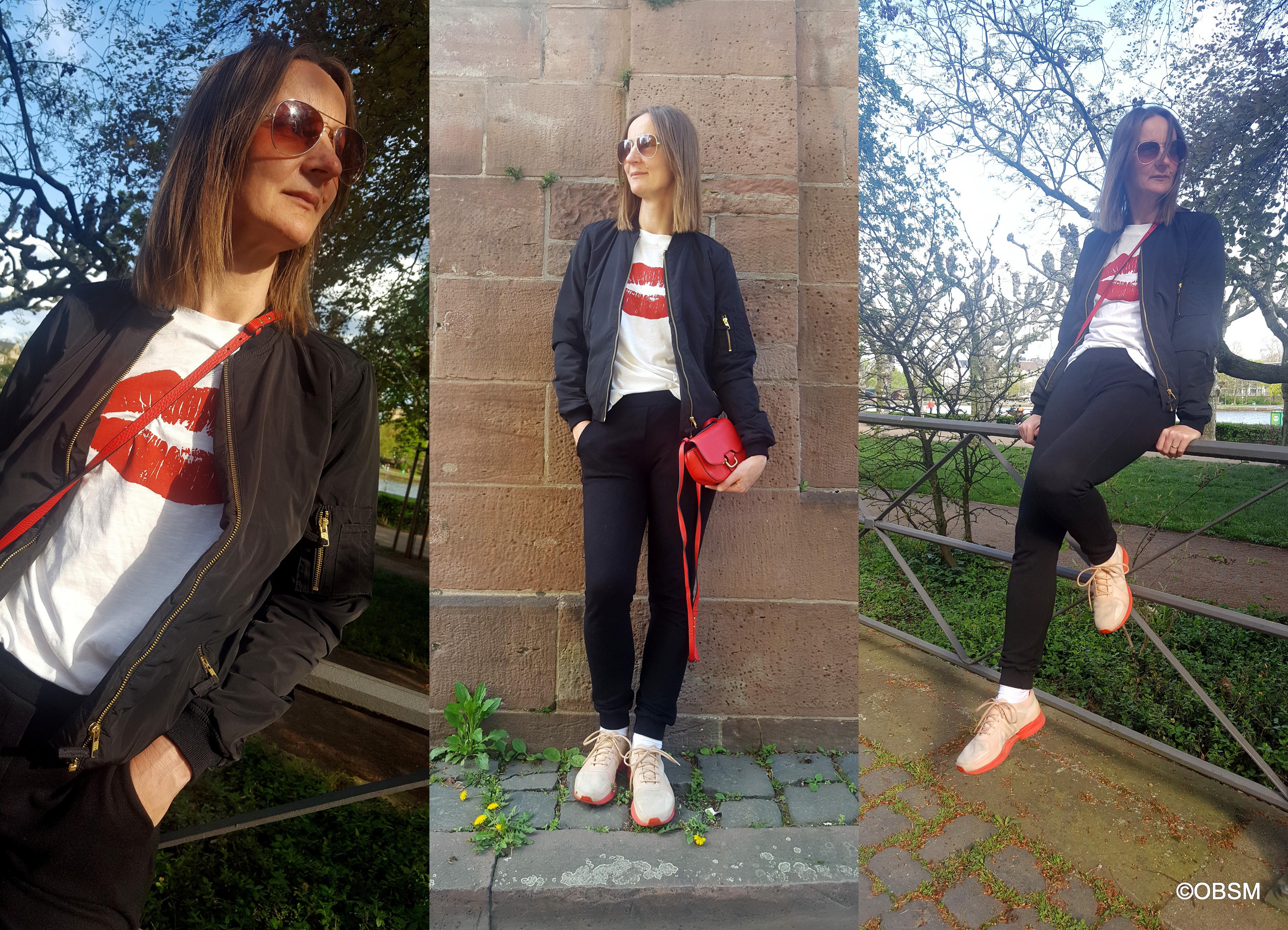 oceanblue-style_blouson_jogging-hose_rote_tasche_sneakers_athleisure_ü40-mode_ue40_blog_t-shirt
